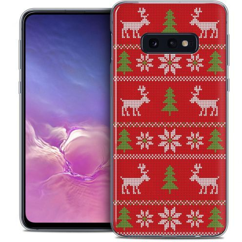 """Carcasa Crystal Gel Extra Fina Samsung Galaxy S10e (5.8"""") Noël 2017 Couture Rouge"""