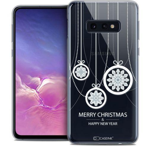 "Carcasa Crystal Gel Extra Fina Samsung Galaxy S10e (5.8"") Noël 2017 Christmas Balls"
