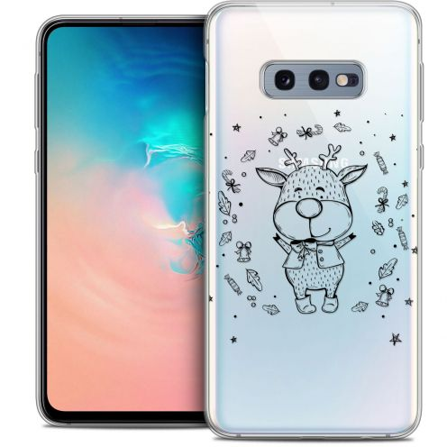 "Carcasa Crystal Gel Extra Fina Samsung Galaxy S10e (5.8"") Noël 2017 Sketchy Cerf"