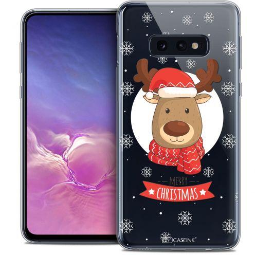 "Carcasa Crystal Gel Extra Fina Samsung Galaxy S10e (5.8"") Noël 2017 Cerf à Echarpe"