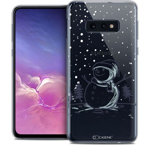 "Carcasa Crystal Gel Extra Fina Samsung Galaxy S10e (5.8"") Noël 2017 Bonhomme de Neige"
