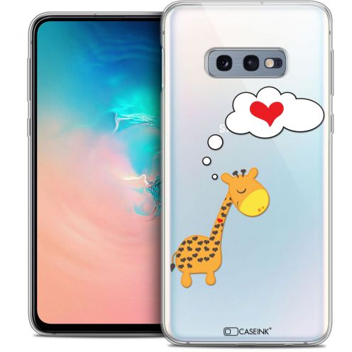 "Carcasa Crystal Gel Extra Fina Samsung Galaxy S10e (5.8"") Love Girafe Amoureuse"