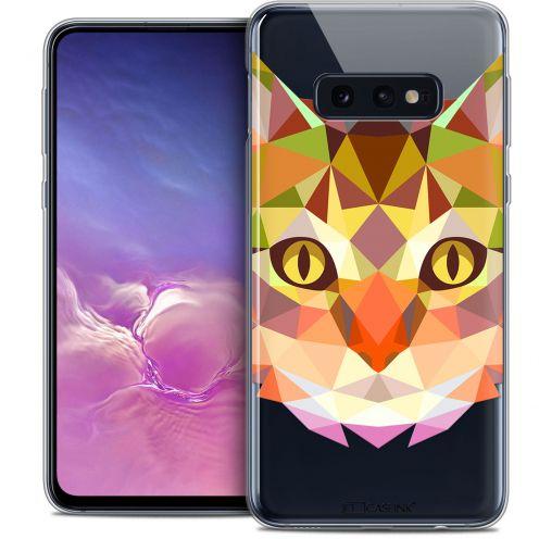 "Carcasa Crystal Gel Extra Fina Samsung Galaxy S10e (5.8"") Polygon Animals Gato"