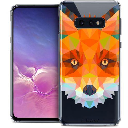"Carcasa Crystal Gel Extra Fina Samsung Galaxy S10e (5.8"") Polygon Animals Zorro"