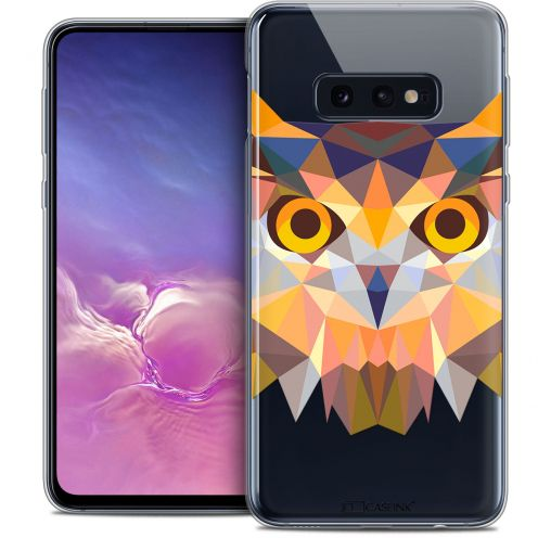 "Carcasa Crystal Gel Extra Fina Samsung Galaxy S10e (5.8"") Polygon Animals Búho"
