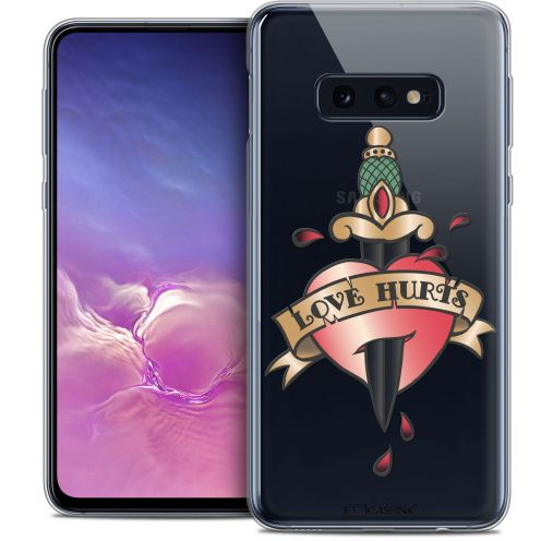 "Carcasa Crystal Gel Extra Fina Samsung Galaxy S10e (5.8"") Tatoo Lover Love Hurts"