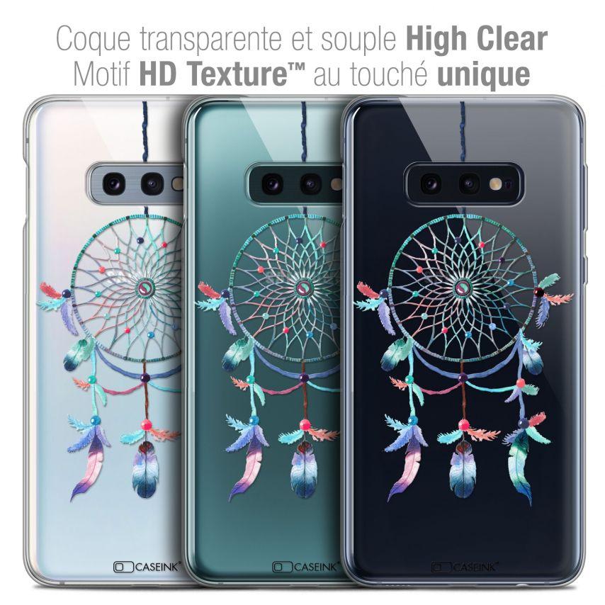 "Carcasa Crystal Gel Extra Fina Samsung Galaxy S10e (5.8"") Dreamy Attrape Rêves Rainbow"