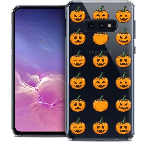 """Carcasa Crystal Gel Extra Fina Samsung Galaxy S10e (5.8"""") Halloween Smiley Citrouille"""