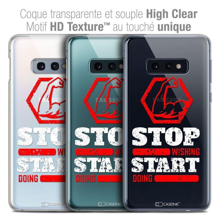 "Carcasa Crystal Gel Extra Fina Samsung Galaxy S10e (5.8"") Quote Start Doing"