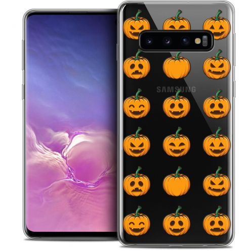 "Carcasa Crystal Gel Extra Fina Samsung Galaxy S10 (6.1"") Halloween Smiley Citrouille"
