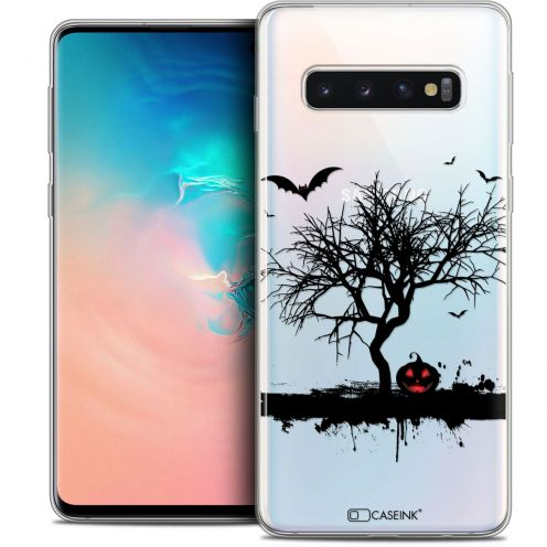 "Carcasa Crystal Gel Extra Fina Samsung Galaxy S10 (6.1"") Halloween Devil's Tree"