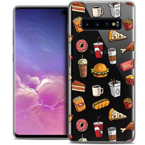 "Carcasa Crystal Gel Extra Fina Samsung Galaxy S10+ (6.4"") Foodie Fast Food"