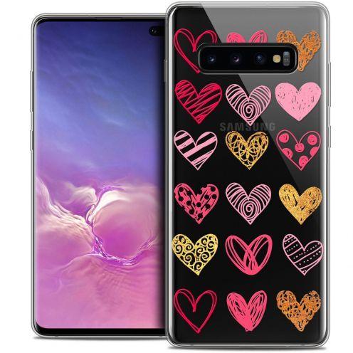 """Carcasa Crystal Gel Extra Fina Samsung Galaxy S10+ (6.4"""") Sweetie Doodling Hearts"""