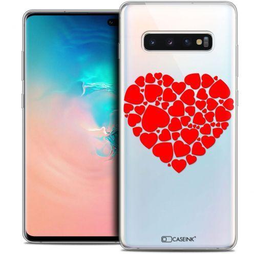 "Carcasa Crystal Gel Extra Fina Samsung Galaxy S10+ (6.4"") Love Coeur des Coeurs"
