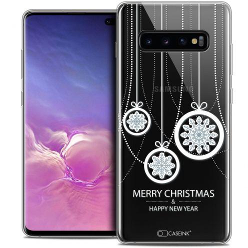 "Carcasa Crystal Gel Extra Fina Samsung Galaxy S10+ (6.4"") Noël 2017 Christmas Balls"
