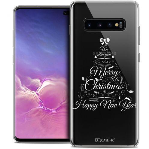 "Carcasa Crystal Gel Extra Fina Samsung Galaxy S10+ (6.4"") Noël 2017 Calligraphie"