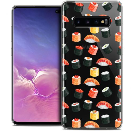 "Carcasa Crystal Gel Extra Fina Samsung Galaxy S10+ (6.4"") Foodie Sushi"