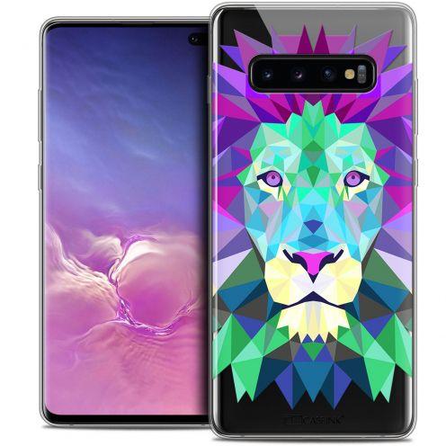 "Carcasa Crystal Gel Extra Fina Samsung Galaxy S10+ (6.4"") Polygon Animals León"