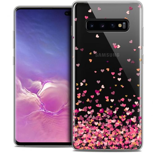 "Carcasa Crystal Gel Extra Fina Samsung Galaxy S10+ (6.4"") Sweetie Heart Flakes"