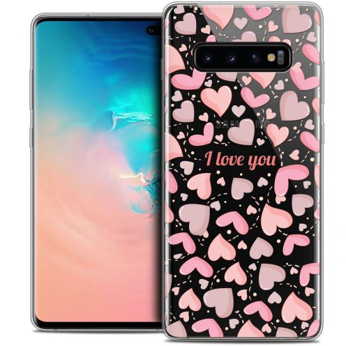 "Carcasa Crystal Gel Extra Fina Samsung Galaxy S10+ (6.4"") Love I Love You"
