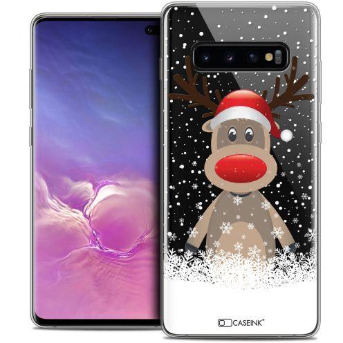 """Carcasa Crystal Gel Extra Fina Samsung Galaxy S10+ (6.4"""") Noël 2017 Cerf au Bonnet"""