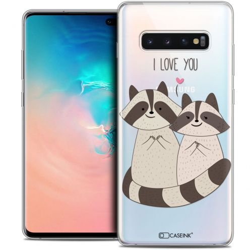 """Carcasa Crystal Gel Extra Fina Samsung Galaxy S10+ (6.4"""") Sweetie Racoon Love"""