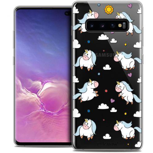 "Carcasa Crystal Gel Extra Fina Samsung Galaxy S10+ (6.4"") Fantasia Licorne In the Sky"