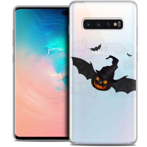 "Carcasa Crystal Gel Extra Fina Samsung Galaxy S10+ (6.4"") Halloween Chauve Citrouille"