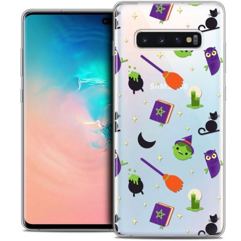 "Carcasa Crystal Gel Extra Fina Samsung Galaxy S10+ (6.4"") Halloween Witch Potter"