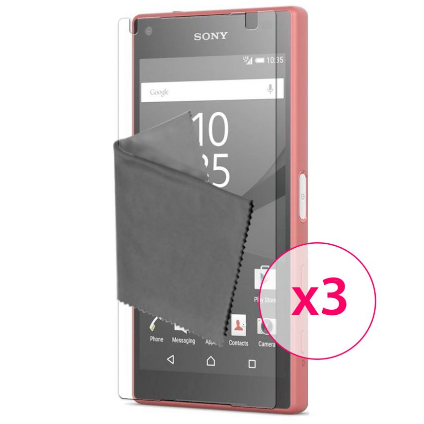 Protector De Pantalla Sony Xperia Z5 Compact Clubcase® 3H Ultra Clear HD Lote de 3