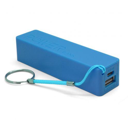 Batería Externa Power Bank - 1A - 1xUSB - 2600mAh - Azul