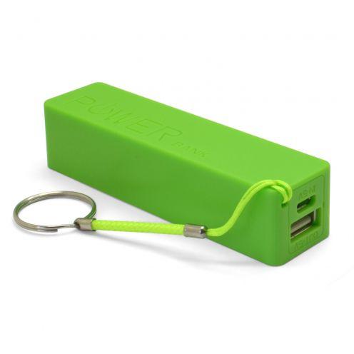 Batería Externa Power Bank - 1A - 1xUSB - 2600mAh - Verde
