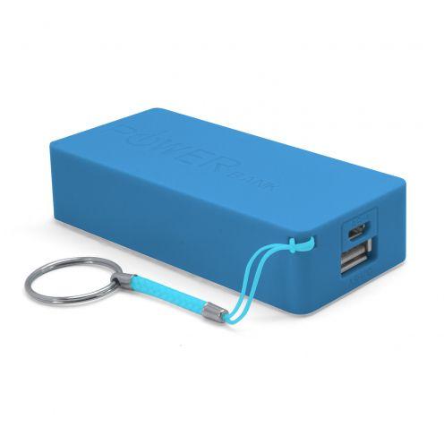 Batería Externa Power Bank - 1A - 1xUSB - 5600mAh - Azul