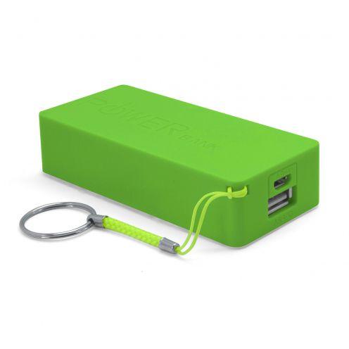 Batería Externa Power Bank - 1A - 1xUSB - 5600mAh - Verde