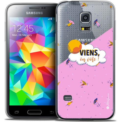 Carcasa Crystal Extra Fina Galaxy S5 Mini Petits Grains® VIENS, On Vole !