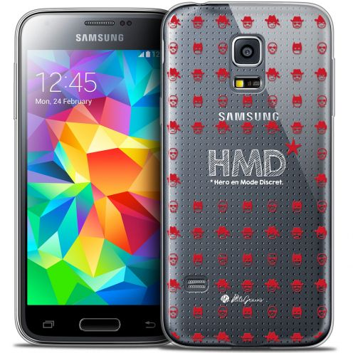 Carcasa Crystal Extra Fina Galaxy S5 Mini Petits Grains® HMD* Hero en Mode Discret