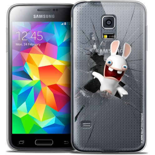 Carcasa Crystal Galaxy S5 Mini Lapins Crétins™ Breaking Glass