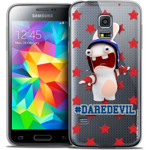 Carcasa Crystal Galaxy S5 Mini Lapins Crétins™ Dare Devil