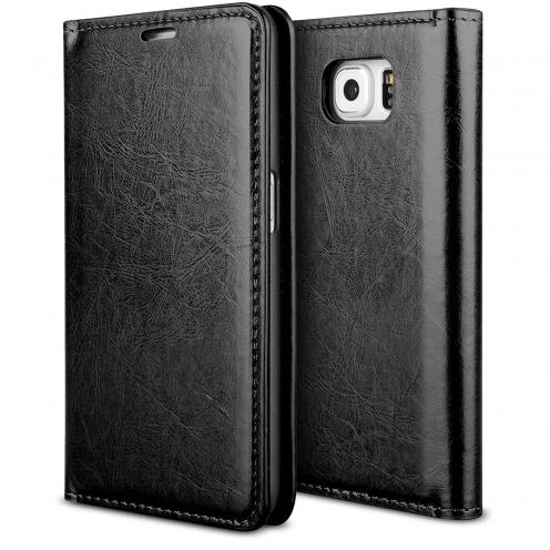 Funda FolioProSkin Smart MagnetNegro para Samsung Galaxy S6 Edge