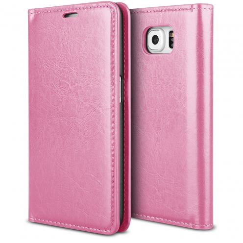 Funda FolioProSkin Smart MagnetRosa para Samsung Galaxy S6 Edge