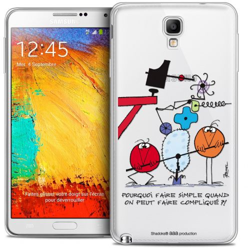Carcasa Crystal Extra Fina Galaxy Note 3 Neo / Lite Les Shadoks® Pourquoi faire Simple