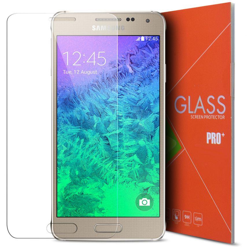 Protección de pantalla de vidrio templado Samsung Galaxy Alpha Glass Pro+ 9H Ultra HD
