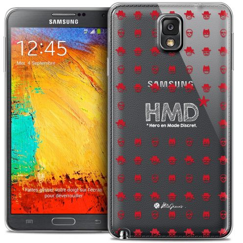 Carcasa Crystal Extra Fina Galaxy Note 3 Petits Grains® HMD* Hero en Mode Discret