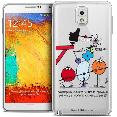 Carcasa Crystal Extra Fina Galaxy Note 3 Les Shadoks® Pourquoi faire Simple