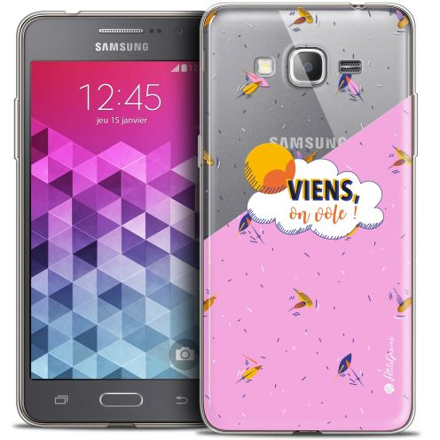 Carcasa Crystal Extra Fina Galaxy Grand Prime Petits Grains® VIENS, On Vole !
