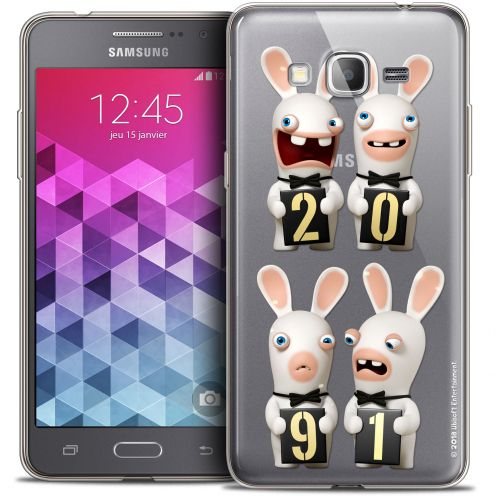 Carcasa Crystal Galaxy Grand Prime Lapins Crétins™ New Year