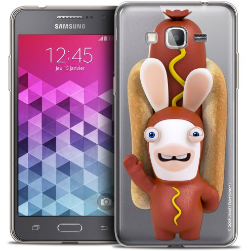 Carcasa Crystal Galaxy Grand Prime Lapins Crétins™ Hot Dog Crétin