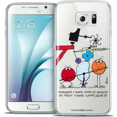 Carcasa Crystal Extra Fina Galaxy S6 Les Shadoks® Pourquoi faire Simple