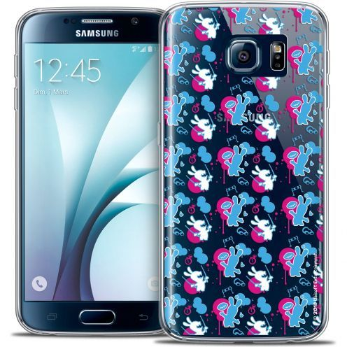 Carcasa Crystal Galaxy S6 Lapins Crétins™ Rugby Pattern