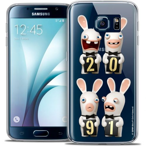 Carcasa Crystal Galaxy S6 Lapins Crétins™ New Year